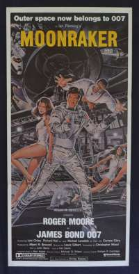 Moonraker 1979 Roger Moore James Bond Daybill movie poster