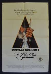 Clockwork Orange Poster Original USA International One Sheet 1971 Stanley Kubrick