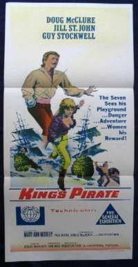 King's Pirate Poster Doug Mclure Daybill