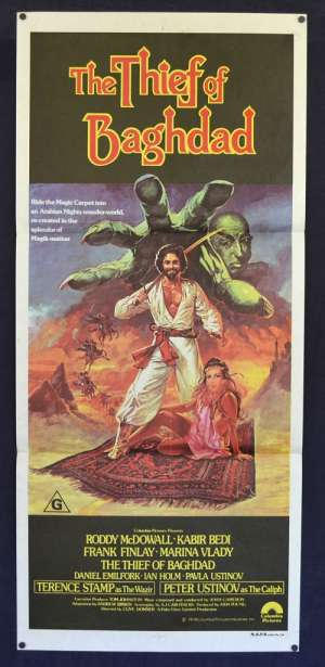 The Thief Of Baghdad 1978 Daybill Movie Poster Roddy MacDowall Ian Holm Terence Stamp