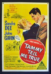 Tammy Tell Me True 1961 One Sheet Movie Poster Sandra Dee John Gavin Rare