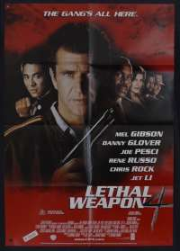 Lethal Weapon 4 Movie Poster One Sheet Mel Gibson Danny Glover