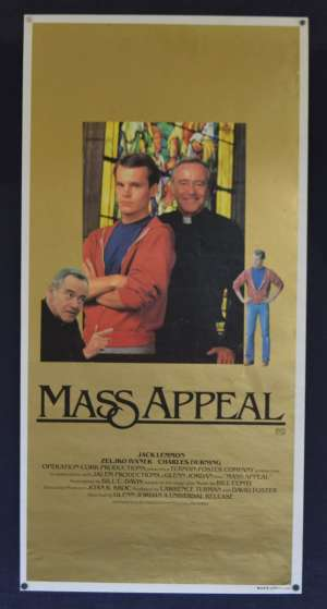 Mass Appeal Movie Poster Original Daybill Rolled 1984 Jack Lemmon Priest