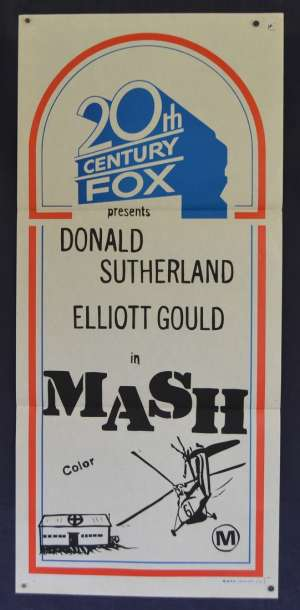MASH Poster Original Daybill Donald Sutherland Helicopter Art Rare