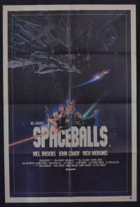 Spaceballs Movie Poster Original One Sheet Mel Brooks John Candy Star Wars