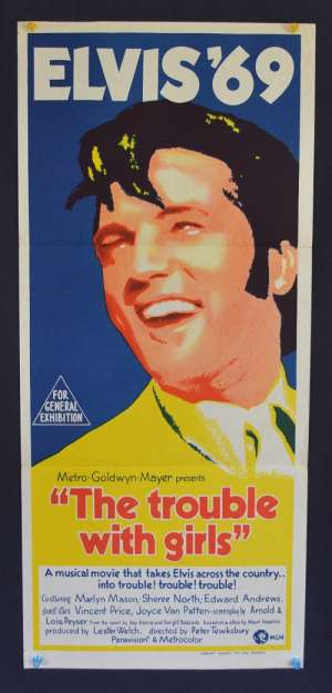 The Trouble With Girls movie poster Daybill Elvis Presley Marlyn Mason