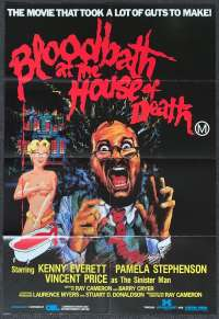 Bloodbath At The House Of Death One Sheet movie poster Kenny Everett