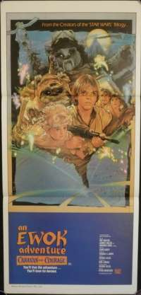 Caravan Of Courage The Ewok Adventure Movie Poster Original Daybill Star Wars