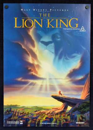 The Lion King Movie Press Promotion Herald Disney Matthew Broderick Alvin Artwork