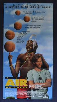 The Air Up There Movie Poster Original Daybill 1994 Kevin Bacon Basketball