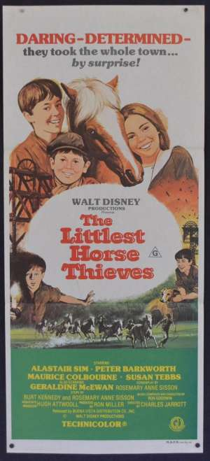The Littlest Horse Thieves movie poster Daybill Disney AKA Escape From The Dark Alastair Sim