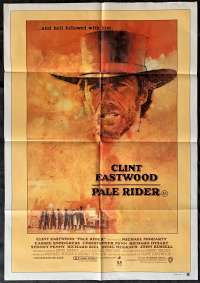 Pale Rider 1985 One Sheet movie poster Clint Eastwood Western