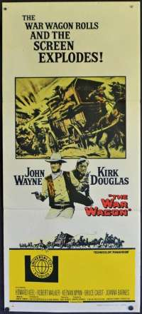 The War Wagon Poster Original Daybill 1967 John Wayne Kirk Douglas