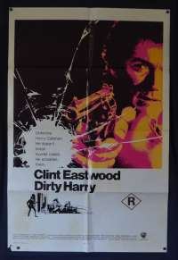 Dirty Harry Poster Original USA One Sheet International 1971 Clint Eastwood Cop