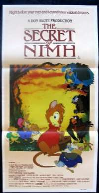 The Secret Of Nimh 1982 Dom Deluise Daybill movie poster