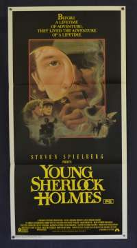 Young Sherlock Holmes1985 Steven Spielberg Daybill Movie poster