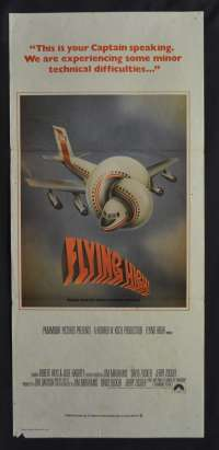 Flying High Movie Poster Original Daybill 1980 Airplane Daybill Robert Hays