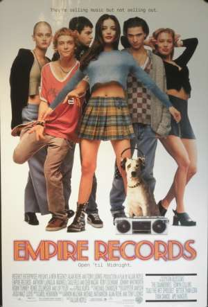 Empire Records 1995 One Sheet movie poster ROLLED Renée Zellweger Liv Tyler