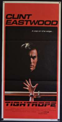 Tightrope 1984 movie poster Clint Eastwood Geneviève Bujold Daybill