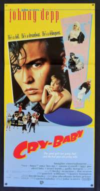 Cry Baby poster RARE Daybill Johnny Depp Traci Lords