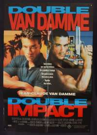 Double Impact Poster Original One Sheet 1991 Jean Claude Van Damme Martial Arts