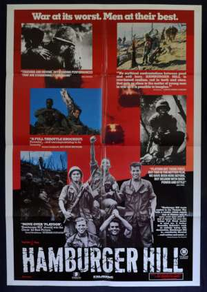 Hamburger Hill 1987 Photo Sheet Poster RARE Vietnam War Dylan McDermott