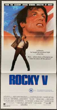 Rocky 5 1990 Daybill Movie Poster Sylvester Stallone Boxing Talia Shire