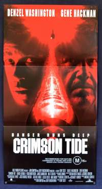 Crimson Tide poster Daybill Denzel Washington Gene Hackman Submarine