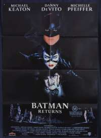 Batman Returns Movie Poster Original One Sheet 1992 Michael Keaton