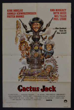 Cactus Jack Aka The Villain Movie Poster USA One Sheet Arnold Schwarznegger