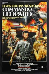 Commando Leopard Poster One Sheet Lewis Collins Klaus Kinski Lee Van Cleef