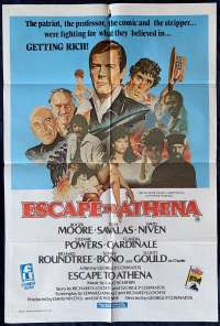 Escape To Athena Poster Original One Sheet 1979 Roger Moore David Niven