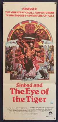 Sinbad And The Eye Of The Tiger Daybill movie poster Ray Harryhausen