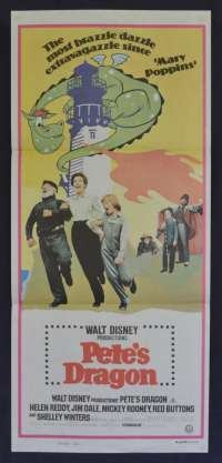 Pete's Dragon Poster 1977 Disney Australian Daybill Movie poster