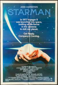 Starman One Sheet Movie poster Jeff Bridges John Carpenter