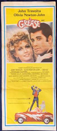 Grease 1978 movie poster Daybill John Travolta Olivia Newton John