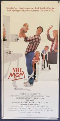 Mr Mom Poster Original Daybill Michael Keaton Teri Garr