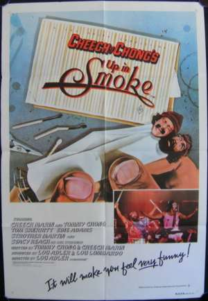 Cheech And Chong Up In Smoke Poster Original One Sheet Cheech Marin Tommy Chong