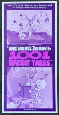 Bugs Bunny 3rd Movie 1001 Rabbit Tales Poster Original Daybill 1982 Comedy