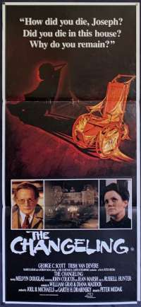 The Changeling Daybill movie poster Horror George C Scott