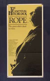 Rope Poster Original Daybill 1983 Re-Issue James Stewart Alfred Hitchcock