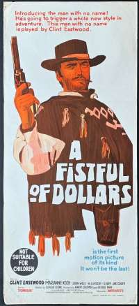 A Fistful Of Dollars 1964 Clint Eastwood Sergio Leone Daybill movie poster