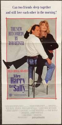 When Harry Met Sally Poster Original Daybill 1989 Billy Crystal Meg Ryan