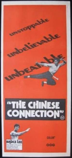 The Chinese Connection Poster Original Daybill 1972 Bruce Lee Martial Arts