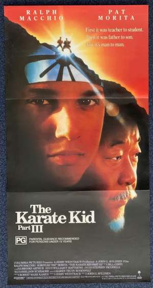 The Karate Kid Part 3 Poster Original Daybill 1989 Ralph Macchio Pat Morita