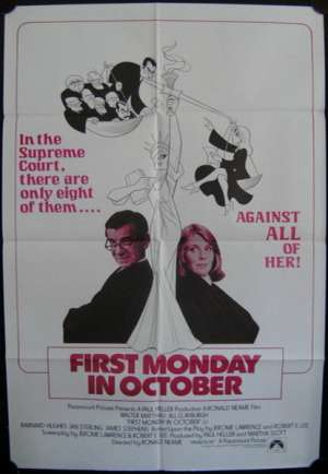 First Monday In October One Sheet Australian Movie poster