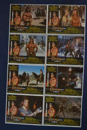 Conan The Destroyer 1984 Lobby Card Set 11x14 USA Schwarzenegger