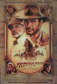 Indiana Jones And The Last Crusade 1989 One Sheet movie poster Rolled Harrison Ford