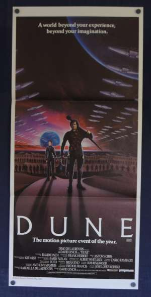 Dune Daybill Poster Original 1984 David Lynch Kyle Maclachlan Sting