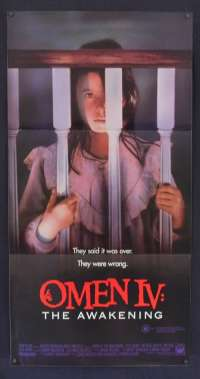The Omen IV The Awakening 1991 Daybill movie poster Faye Grant